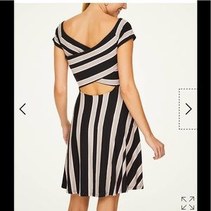 LOFT Dresses - !   LOFT striped cross back flare dress